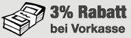 Vorauskasse (3% Rabatt)