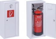 Aufputz-Schutzschrank 6 kg/ Liter Feuerlöscher (weiß mit Schloss/Schlüssel)