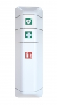 help - Feuerlöscher-Schrank + Aufsatz Defibrillator- und Verbandskasten