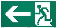 Rettungszeichen Rettungsweg links nach ISO 6309