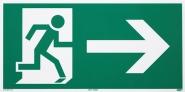 Rettungszeichen Rettungsweg rechts nach ISO 6309