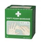 Cederroth Soft Foam Bandage, 2 St. 2m x 6cm (hautfarben)