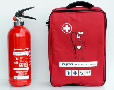 Erste-Hilfe-Set inklusive 2 Liter Fettbrand-Feuerlöscher F2L *Neuruppin
