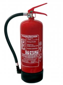 6 kg ABC Pulver Dauerdruck-Feuerlöscher EN 3