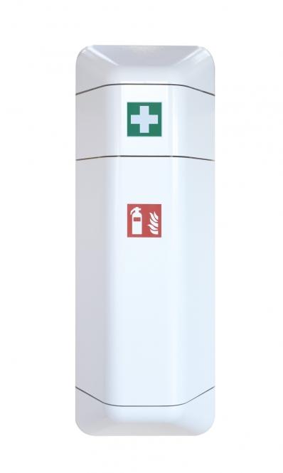 help - Feuerlöscher-Schrank + Aufsatz Verbandskasten