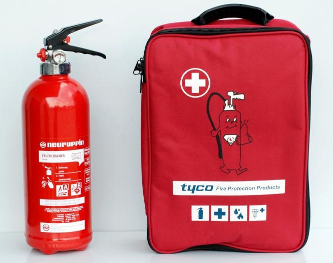 Erste-Hilfe-Set inklusive 2kg Pulver-Feuerlöscher PG2 *Neuruppin