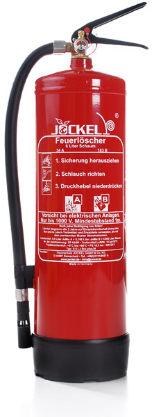 feuerloescher schauml scher 6 liter jockel s6ljm bio plus mit manometer. Black Bedroom Furniture Sets. Home Design Ideas